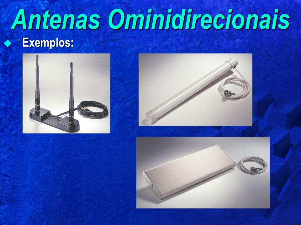 Antenas Ominidirecionais Exemplos: Exemplos: