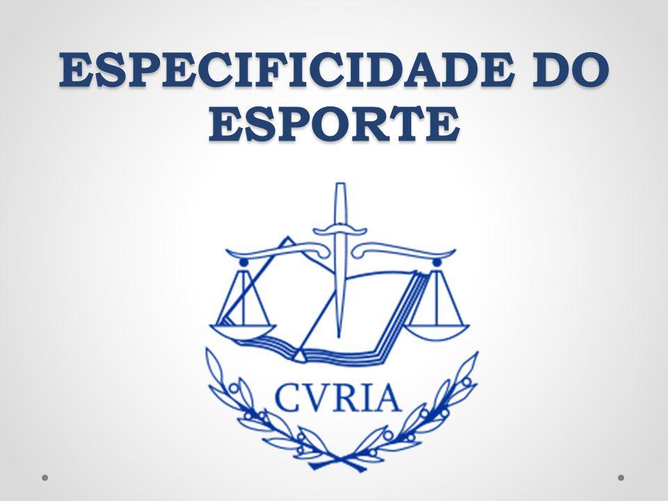 ESPECIFICIDADE DO ESPORTE