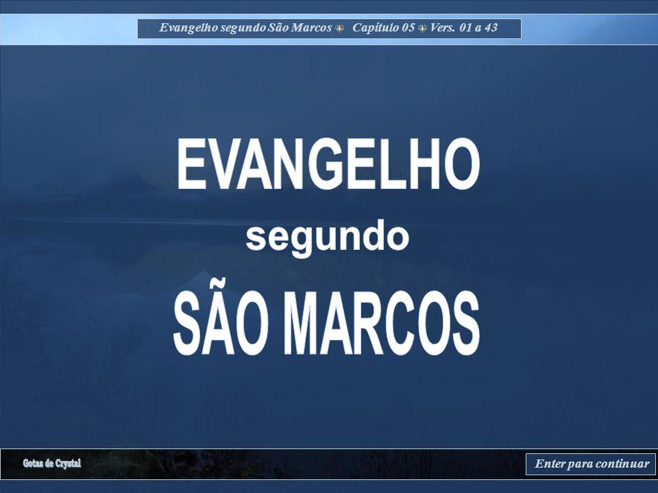 Evangelho segundo São Marcos Capítulo 05 Vers. 01 a 43 Enter para continuar