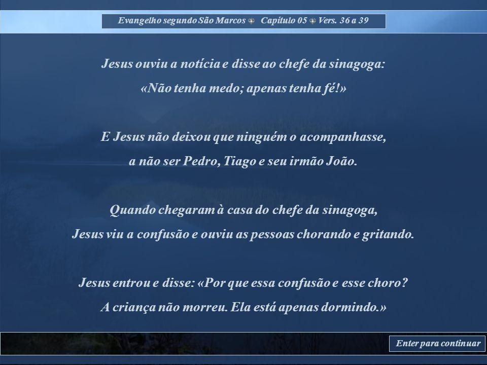 Evangelho segundo São Marcos Capítulo 05 Vers.