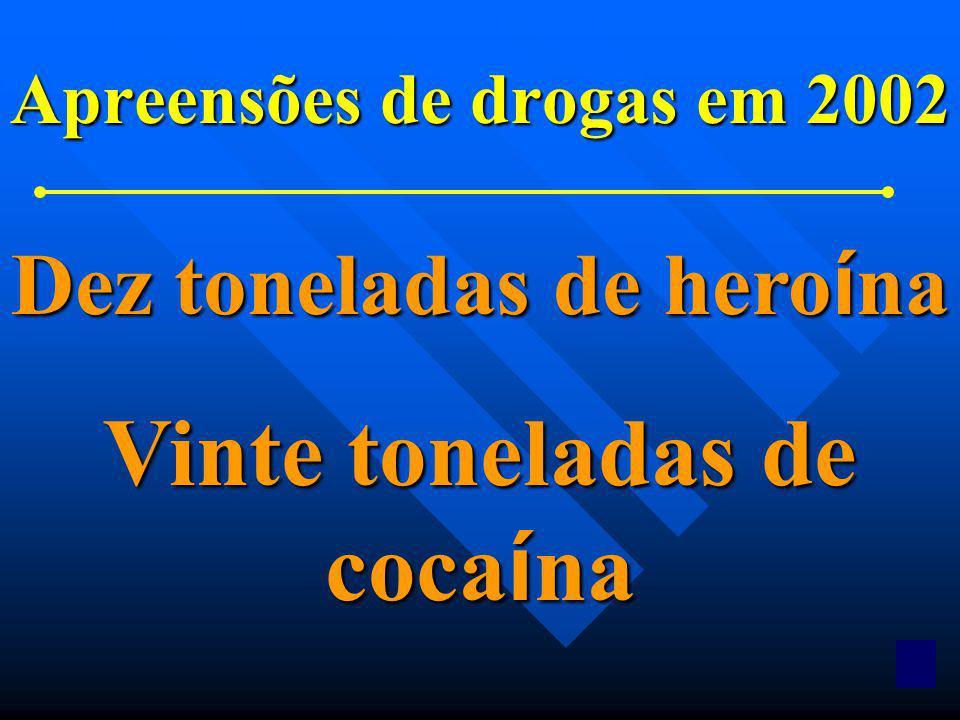 10 Apreensões de drogas feitas por pol í cias locais ou estaduais em 1970 28 gramas de coca í na 7 gramas de hero í na