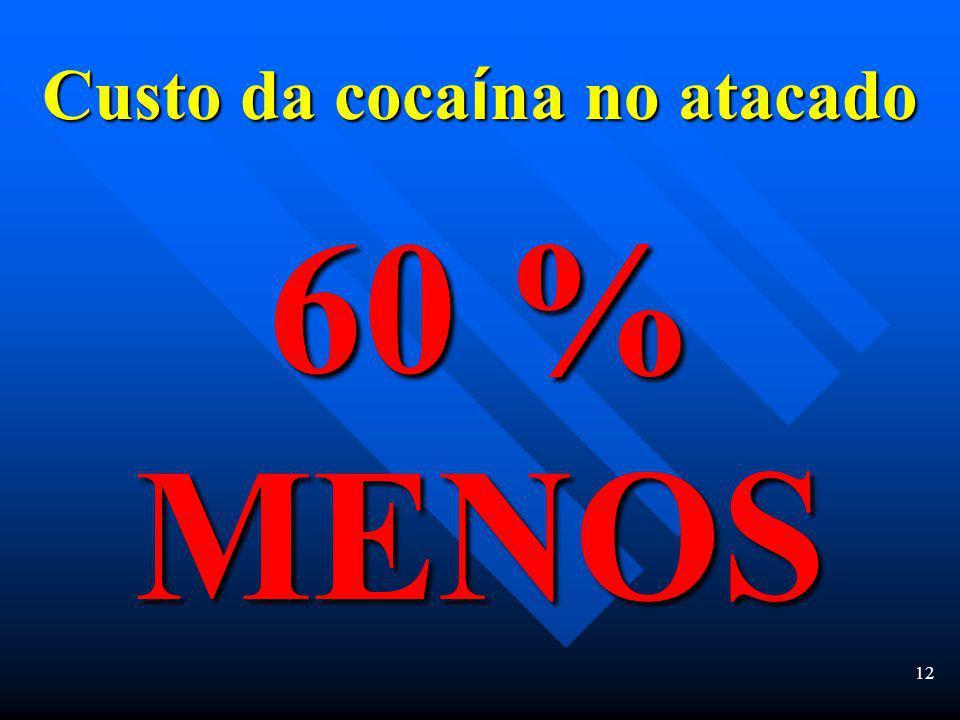 11 Apreensões de drogas em 2002 Dez toneladas de hero í na Vinte toneladas de coca í na