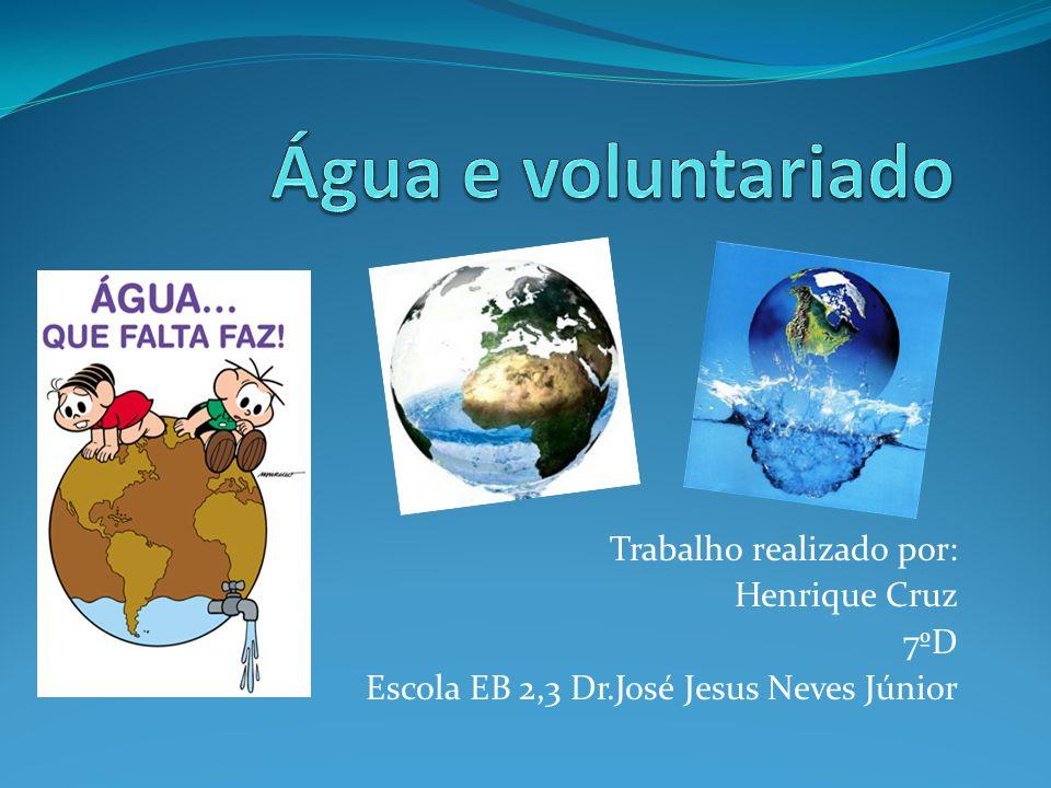 Introdução Realizei este trabalho no âmbito do Concurso Água Jovem.