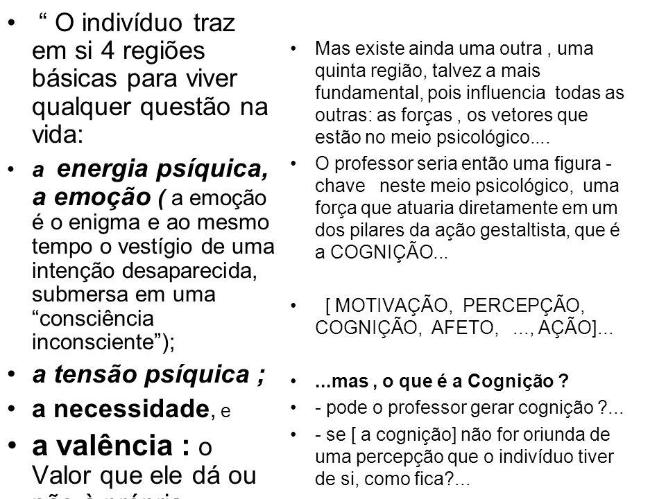 -...a função do professor não pode ser então gerar cognição, pois a consciência não conhece nada: ela se apercebe...