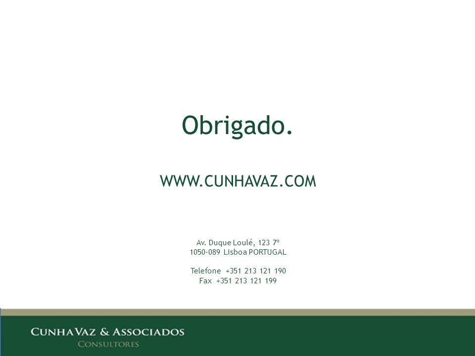 Obrigado. WWW.CUNHAVAZ.COM Av.