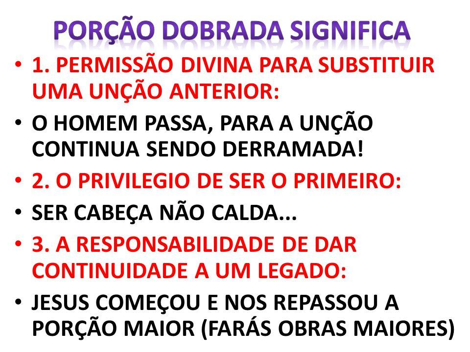 UNÇÃO DOBRADA, NÃO É PARA QUEM DESEJA, MAS PARA QUEM LUTA POR ELA.