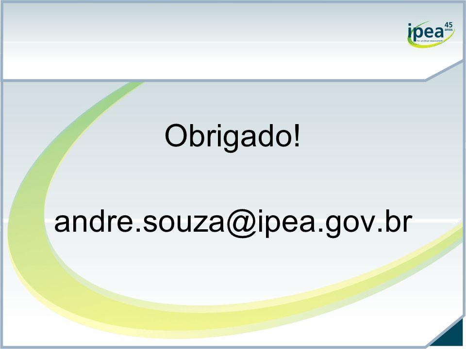 Obrigado! andre.souza@ipea.gov.br