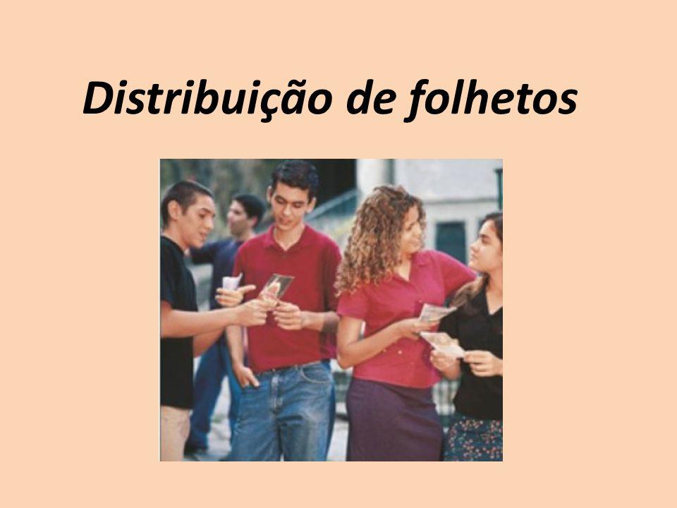 Distribuição de folhetos