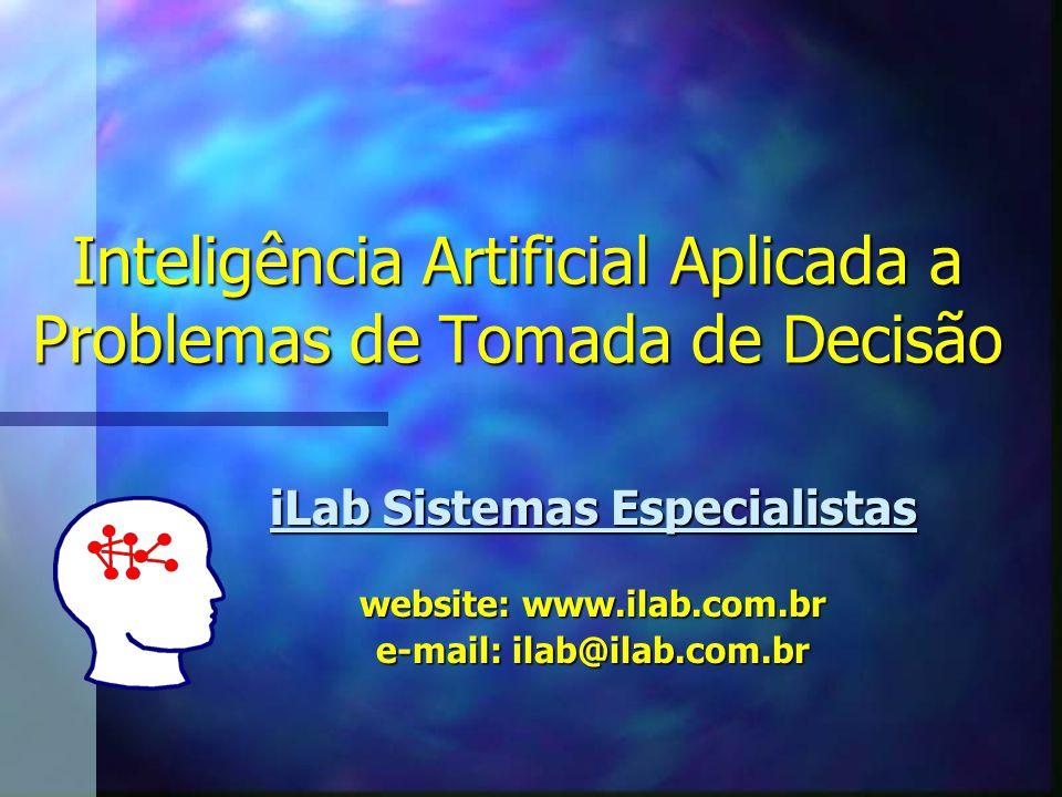 Inteligência Artificial Aplicada a Problemas de Tomada de Decisão iLab Sistemas Especialistas website: www.ilab.com.br e-mail: ilab@ilab.com.br