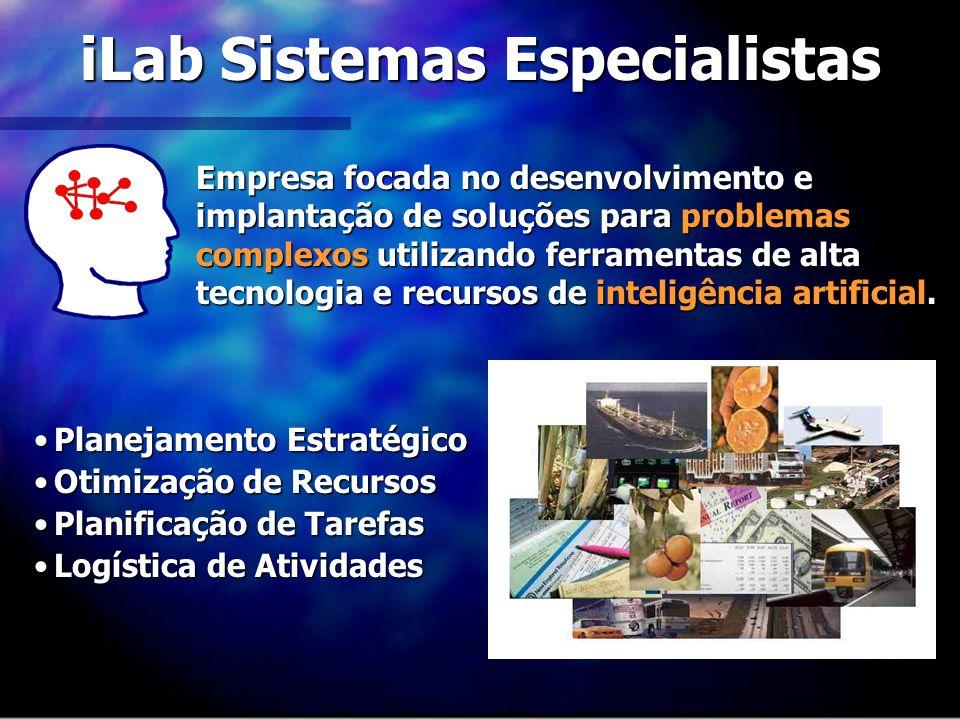 iLab Sistemas Especialistas Empresa focada no desenvolvimento e implantação de soluções para problemas complexos utilizando ferramentas de alta tecnol