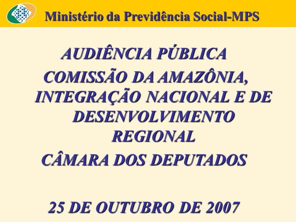 AUDIÊNCIA PÚBLICA COMISSÃO DA AMAZÔNIA, INTEGRAÇÃO NACIONAL E DE DESENVOLVIMENTO REGIONAL COMISSÃO DA AMAZÔNIA, INTEGRAÇÃO NACIONAL E DE DESENVOLVIMEN