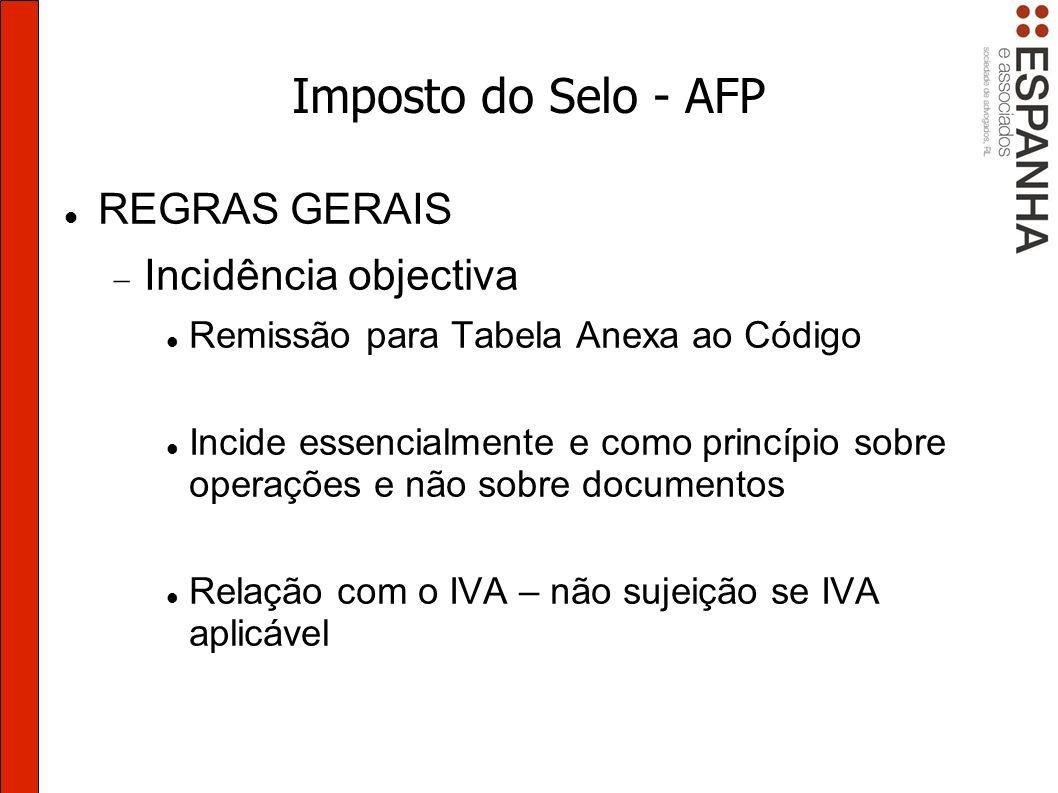 Imposto do Selo - AFP GARANTIAS