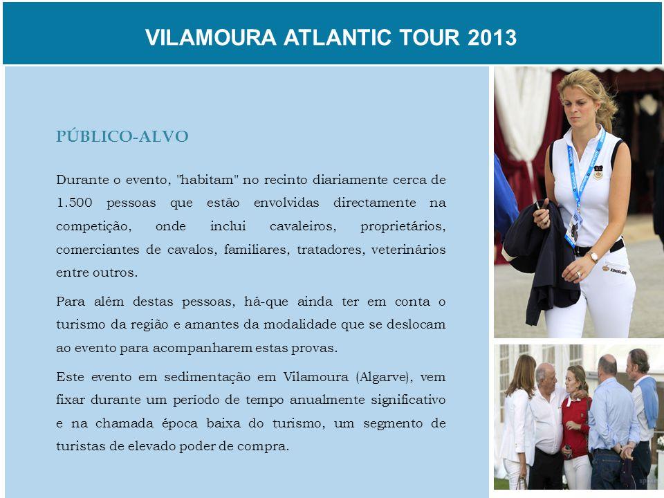 VILAMOURA ATLANTIC TOUR 2013 PÚBLICO-ALVO Durante o evento,