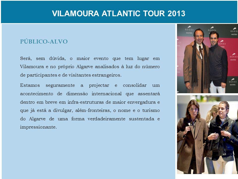 VILAMOURA ATLANTIC TOUR 2013 PÚBLICO-ALVO Será, sem dúvida, o maior evento que tem lugar em Vilamoura e no próprio Algarve analisados à luz do número