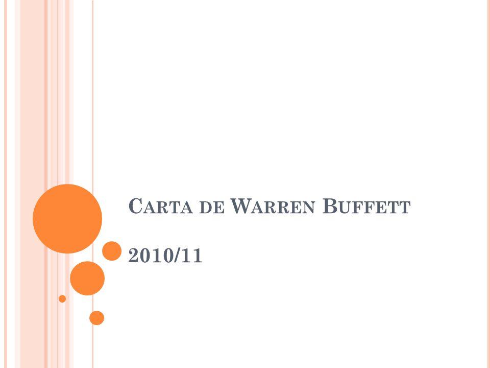 C ARTA DE W ARREN B UFFETT 2010/11