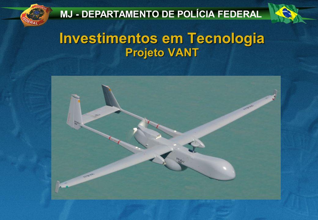 MJ - DEPARTAMENTO DE POLÍCIA FEDERAL Investimentos em Tecnologia Projeto VANT