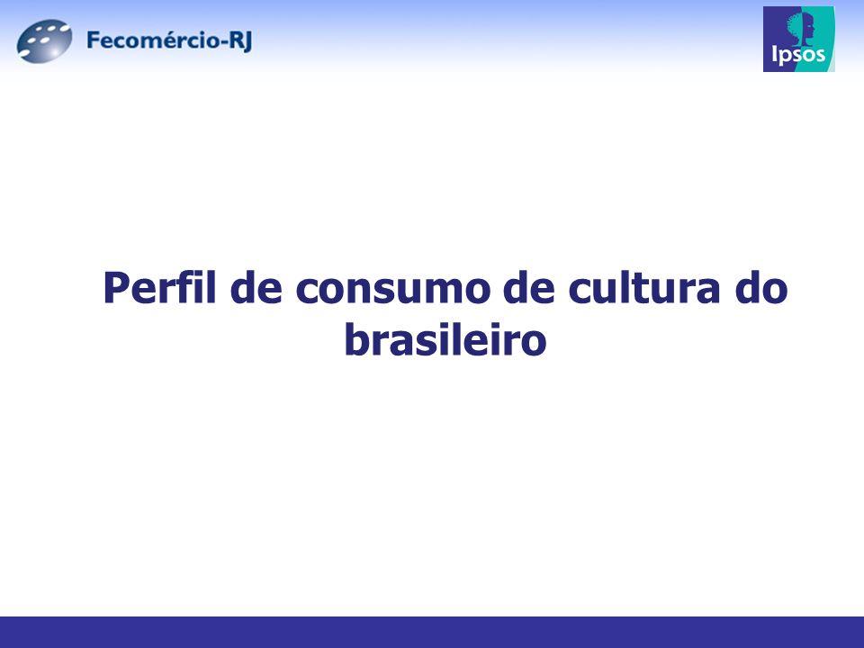 Perfil de consumo de cultura do brasileiro