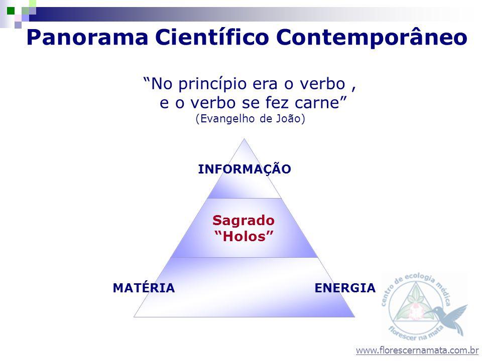 www.florescernamata.com.br Panorama Científico Contemporâneo INFORMAÇÃO Sagrado Holos MATÉRIA ENERGIA No princípio era o verbo, e o verbo se fez carne
