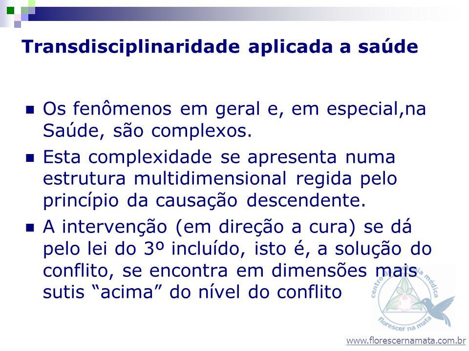 www.florescernamata.com.br Transdisciplinaridade aplicada a saúde Os fenômenos em geral e, em especial,na Saúde, são complexos. Esta complexidade se a
