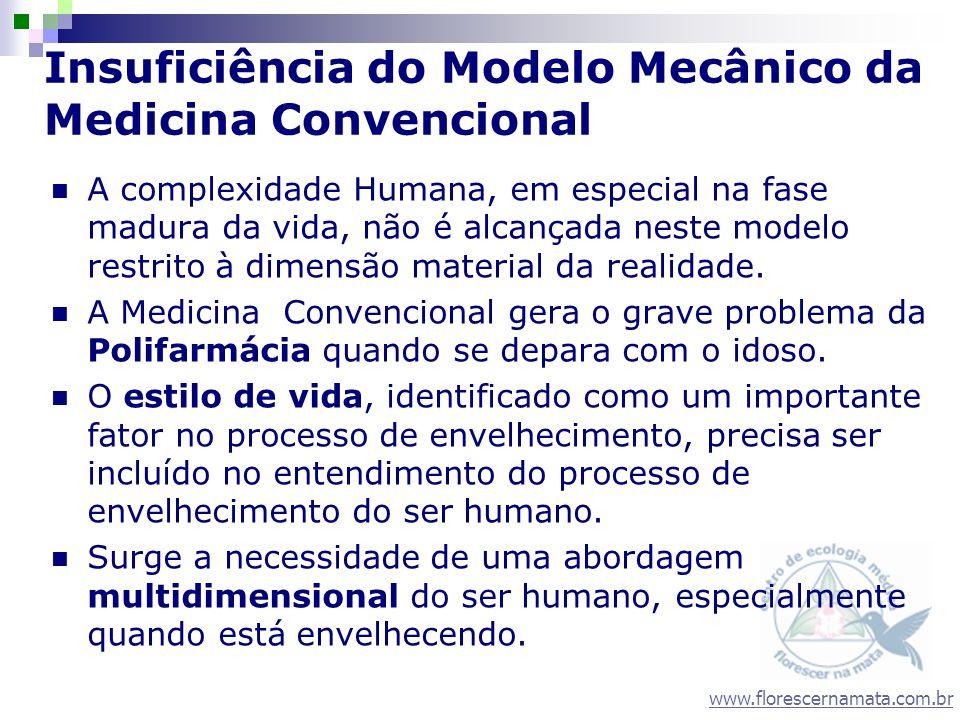 www.florescernamata.com.br Insuficiência do Modelo Mecânico da Medicina Convencional A complexidade Humana, em especial na fase madura da vida, não é