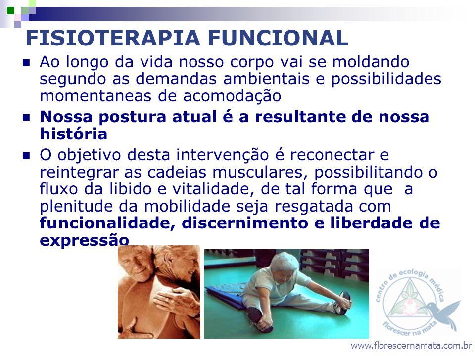 www.florescernamata.com.br FISIOTERAPIA FUNCIONAL Ao longo da vida nosso corpo vai se moldando segundo as demandas ambientais e possibilidades momenta