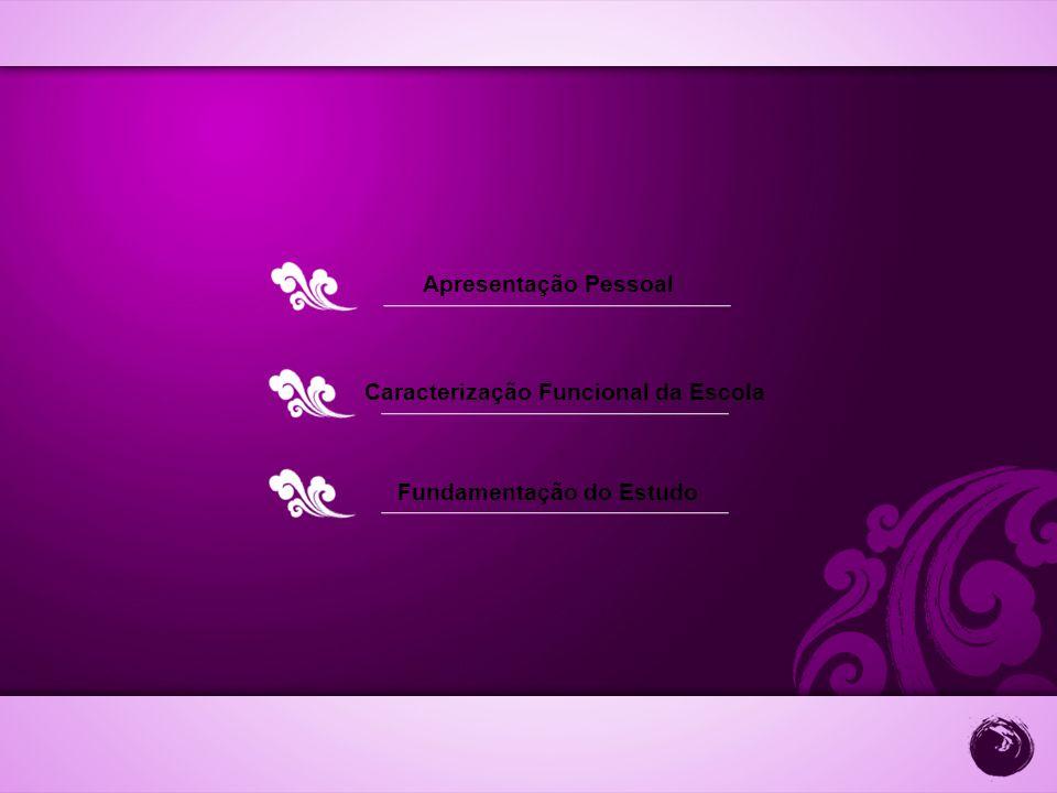 Apresentação Pessoal Caracterização Funcional da Escola Fundamentação do Estudo
