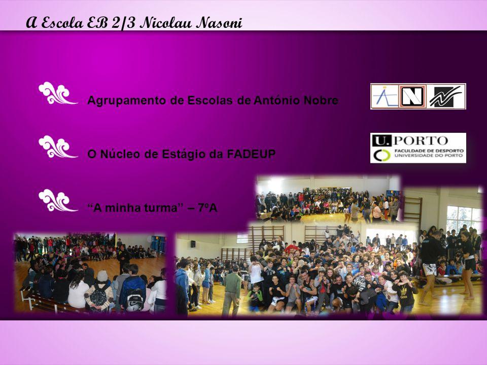 A Escola EB 2/3 Nicolau Nasoni Agrupamento de Escolas de António Nobre O Núcleo de Estágio da FADEUP A minha turma – 7ºA