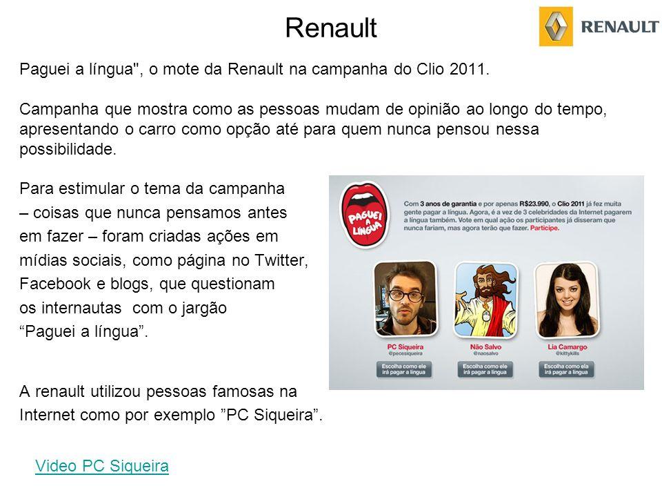 Renault Paguei a língua