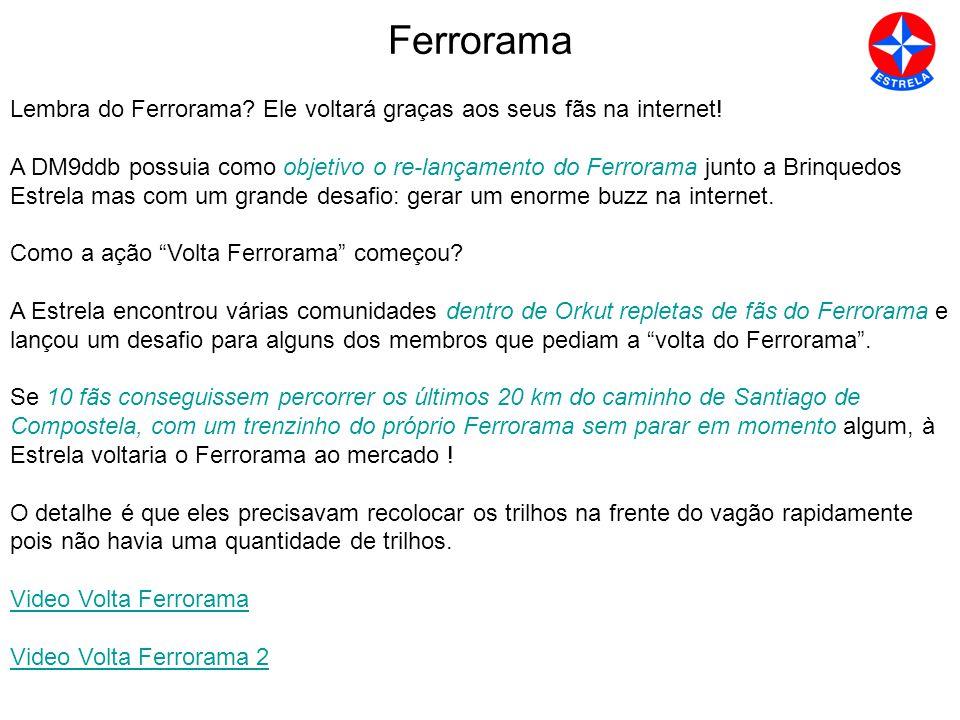 Ferrorama Lembra do Ferrorama.Ele voltará graças aos seus fãs na internet.