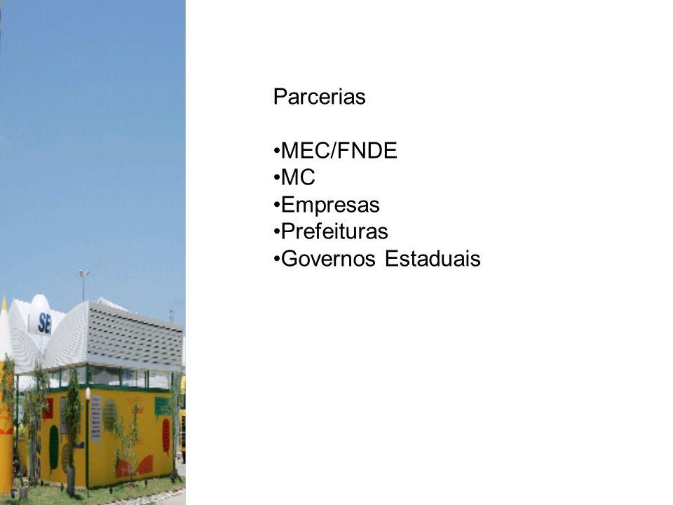 Parcerias MEC/FNDE MC Empresas Prefeituras Governos Estaduais