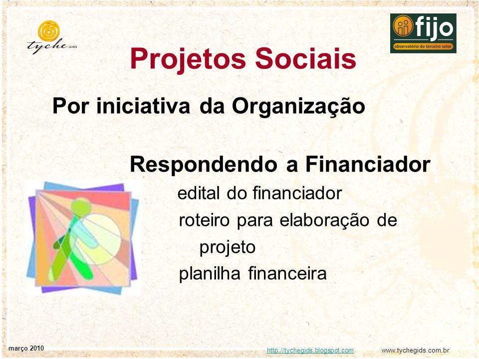 http://tychegids.blogspot.comhttp://tychegids.blogspot.com www.tychegids.com.br março 2010 Projetos Sociais Por iniciativa da Organização Respondendo