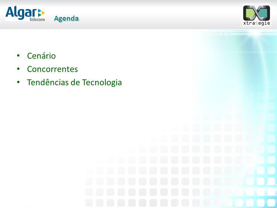 Agenda Cenário Concorrentes Tendências de Tecnologia