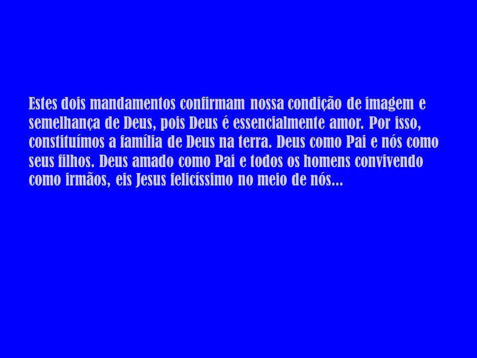 Jesus sabe que o desprezo ou desleixo quanto à prática destes dois mandamentos deixa-nos como seres que se violentam, matam-se, escravizam-se...