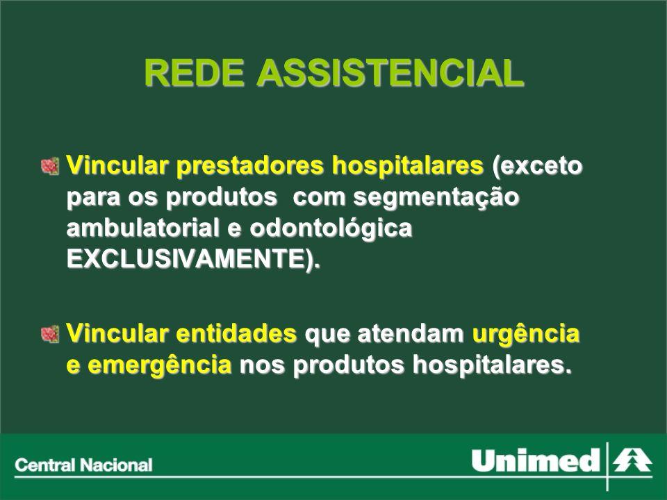 Vincular prestadores hospitalares (exceto para os produtos com segmentação ambulatorial e odontológica EXCLUSIVAMENTE). Vincular entidades que atendam