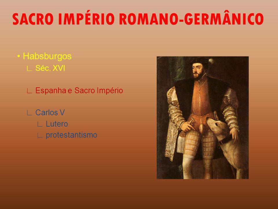 SACRO IMPÉRIO ROMANO-GERMÂNICO Habsburgos Séc.