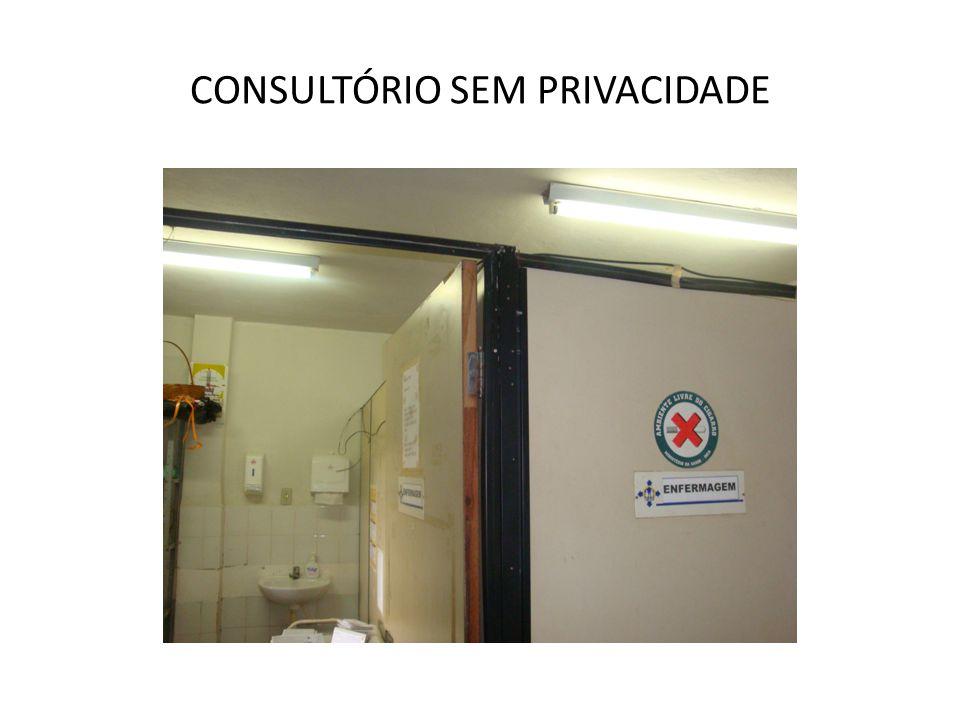 CONSULTÓRIO SEM PRIVACIDADE