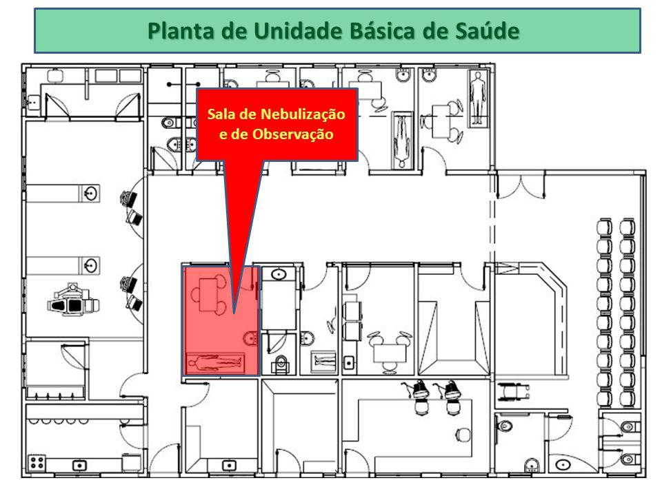 Planta de Unidade Básica de Saúde Sala de Nebulização e de Observação