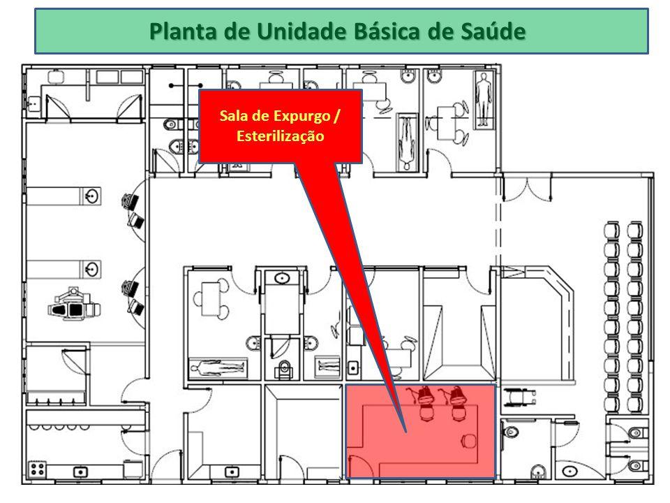 Planta de Unidade Básica de Saúde Sala de Expurgo / Esterilização