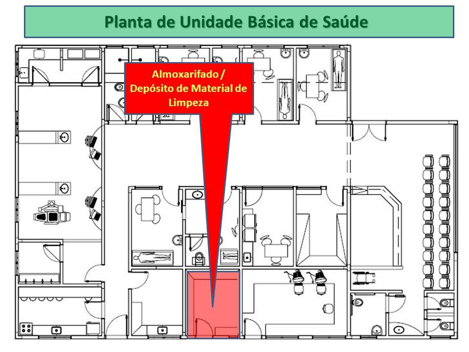Planta de Unidade Básica de Saúde Almoxarifado / Depósito de Material de Limpeza