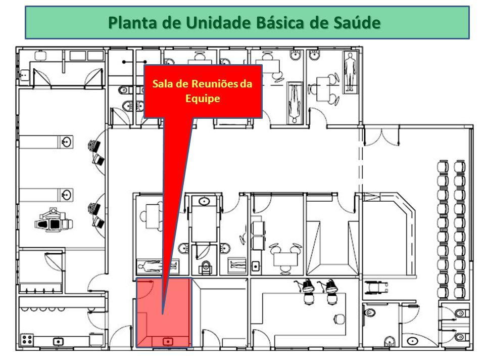 Planta de Unidade Básica de Saúde Sala de Reuniões da Equipe