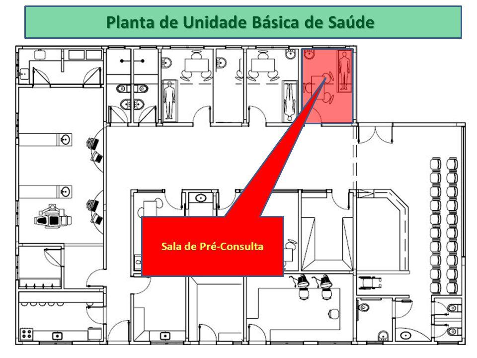 Planta de Unidade Básica de Saúde Sala de Pré-Consulta
