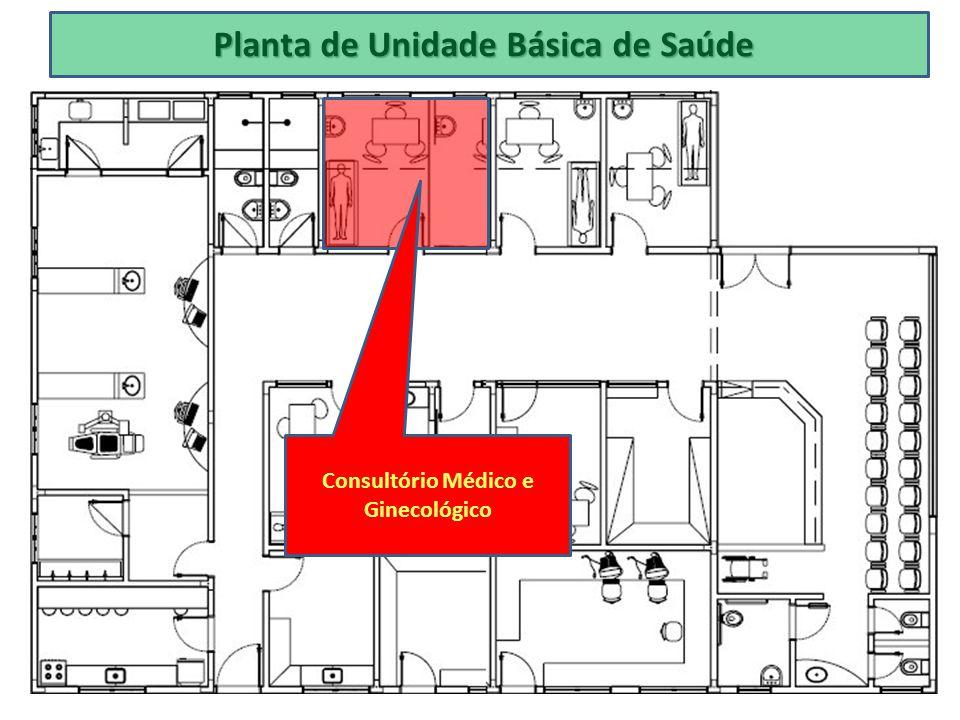 Planta de Unidade Básica de Saúde Consultório Médico e Ginecológico