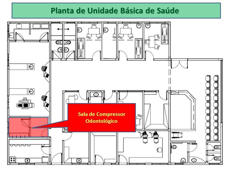Planta de Unidade Básica de Saúde Sala de Compressor Odontológico