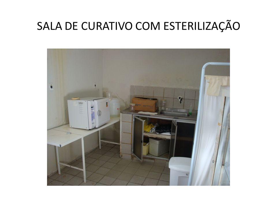 SALA DE CURATIVO COM ESTERILIZAÇÃO