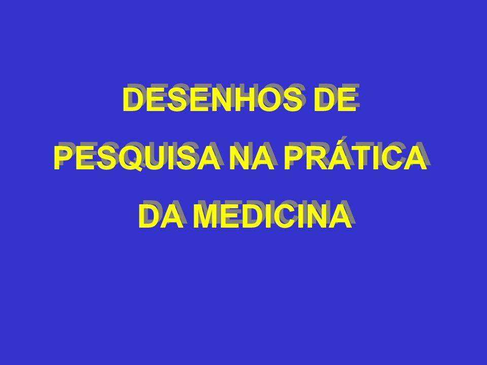 DESENHOS DE PESQUISA NA PRÁTICA DA MEDICINA DESENHOS DE PESQUISA NA PRÁTICA DA MEDICINA