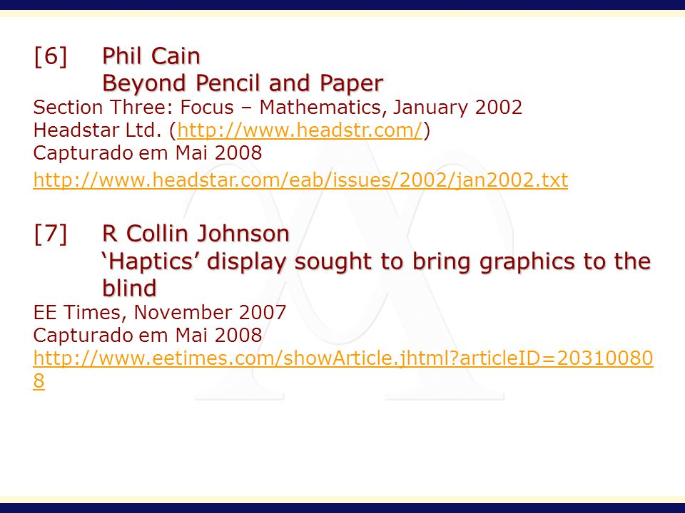 Phil Cain [6]Phil Cain Beyond Pencil and Paper Section Three: Focus – Mathematics, January 2002 Headstar Ltd.