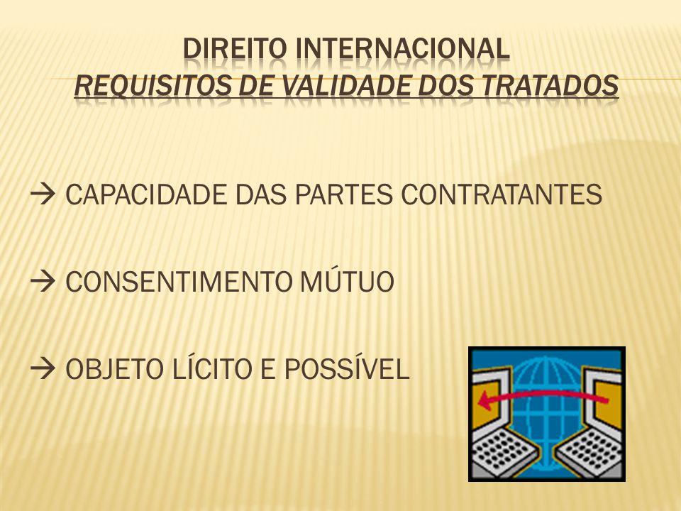 CAPACIDADE DAS PARTES CONTRATANTES CONSENTIMENTO MÚTUO OBJETO LÍCITO E POSSÍVEL