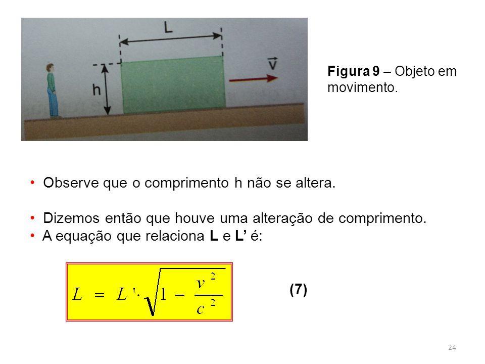 24 Figura 9 – Objeto em movimento.Observe que o comprimento h não se altera.