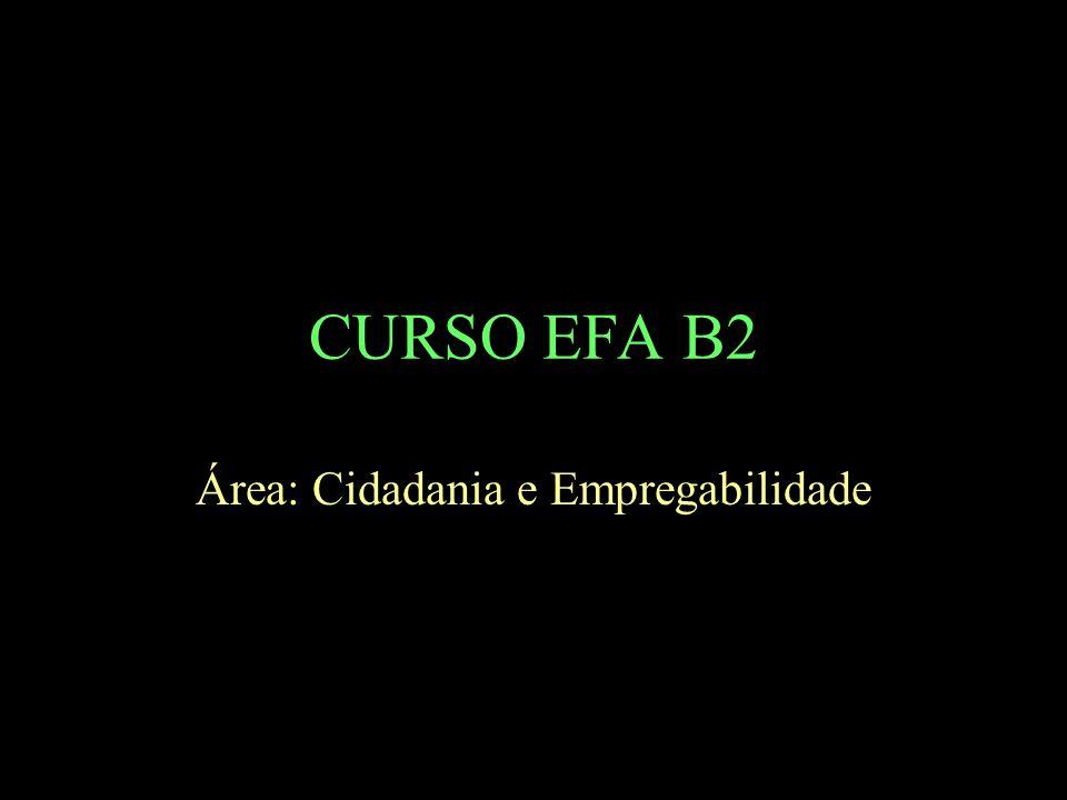 CURSO EFA B2 Área: Cidadania e Empregabilidade