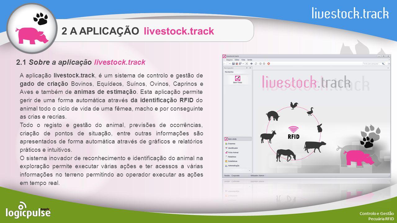 2 A APLICAÇÃO livestock.track Controlo e Gestão Pecuária RFID A aplicação livestock.track, é um sistema de controlo e gestão de gado de criação Bovino
